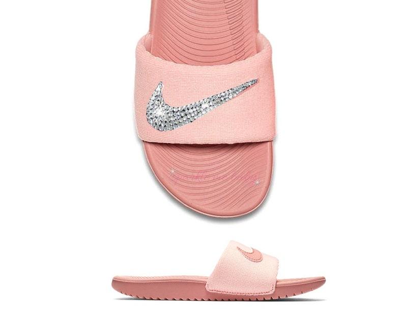 b1179b011 Nike Slide Women s Rust Pink NEW Custom Slides Nike