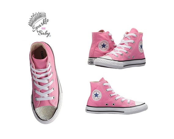 babc19769492 Kids Converse Bling Converse Customized Pink Converse