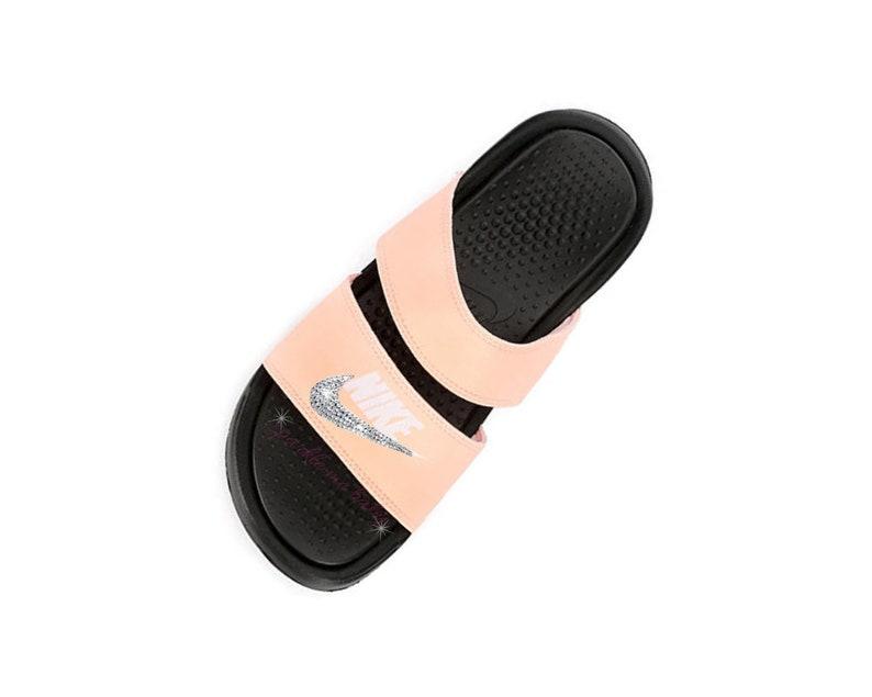 728120283280 Nike Slide Women s Nike Benassi Duo Pale Pink Custom