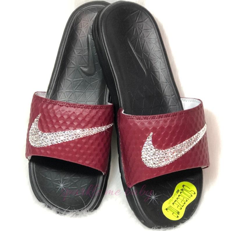 4c71ca3cf Bling Nike Slide Women s Benassi Solarsoft 2 Burgundy