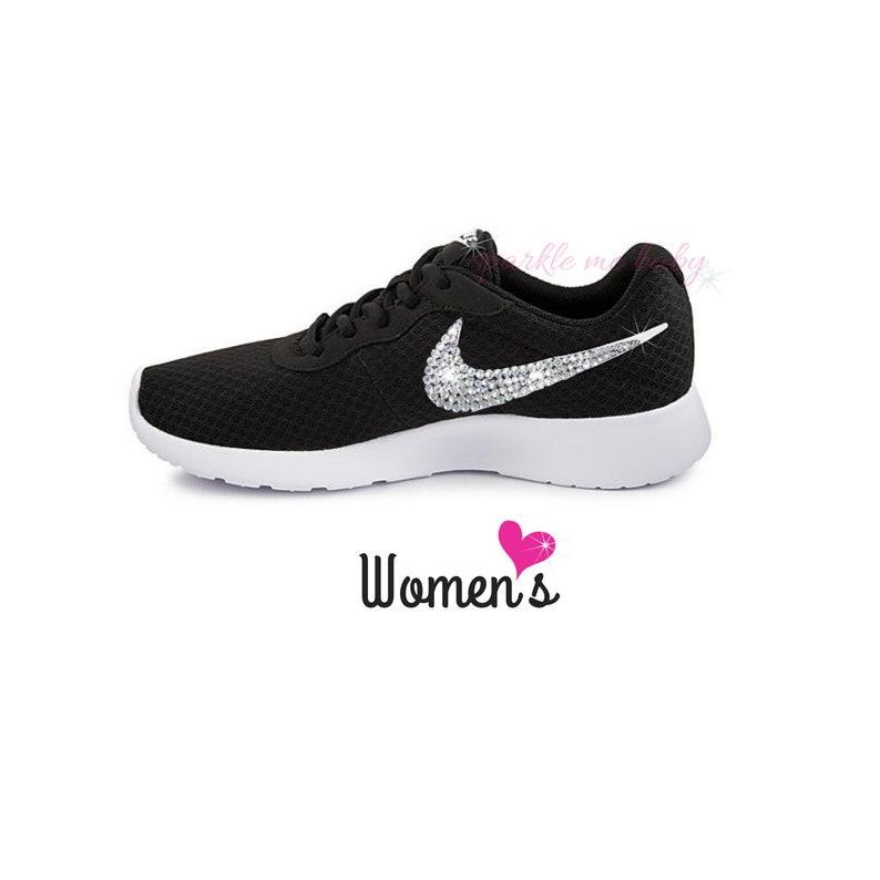 abe5f4b41528 Nike Tanjun Women s in Black Bedazzled Nike Blinged