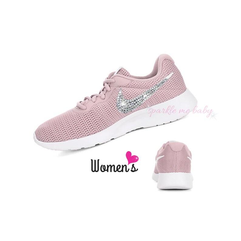 dedfdf48d321 Nike Tanjun Women s in Pale Pink Bedazzled Nike