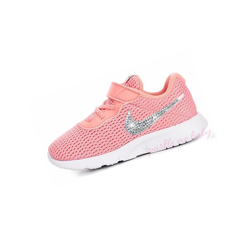 df77d127082e Swarovski Nike Tanjun Infant and Toddler Bleached Coral