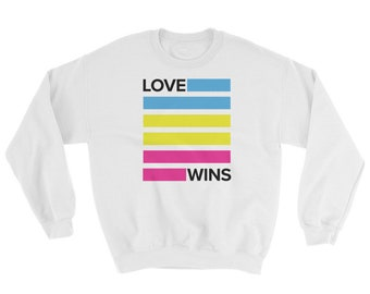 Pansexual Love Wins Unisex Sweatshirt