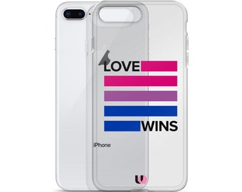 Bisexual Love Wins iPhone Case