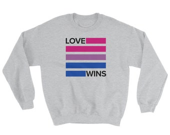 Bisexual Love Wins Sweatshirt