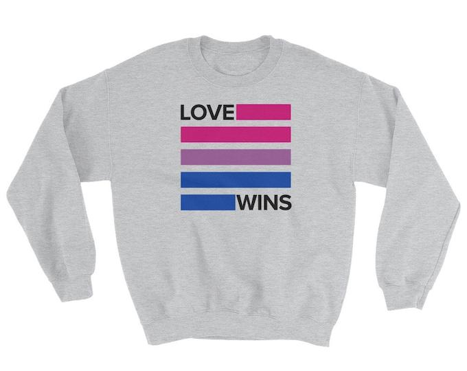 Bisexual Love Wins Sweatshirt