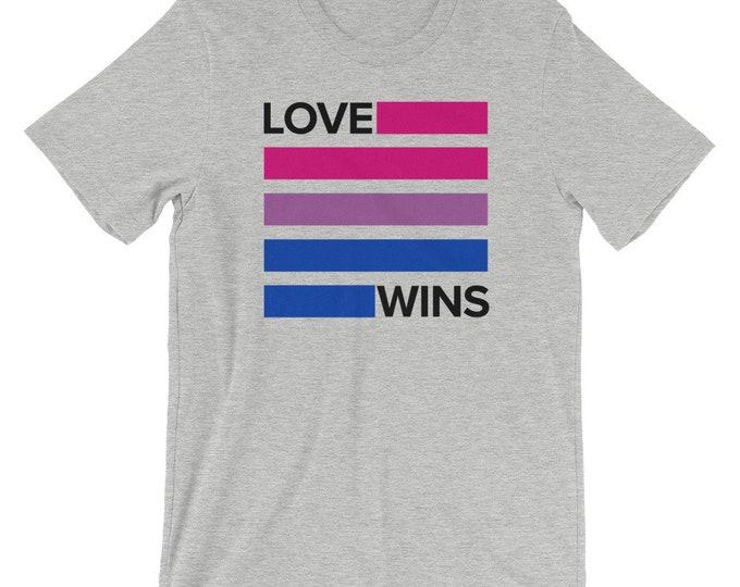 Bisexual Love Wins Unisex T-Shirt