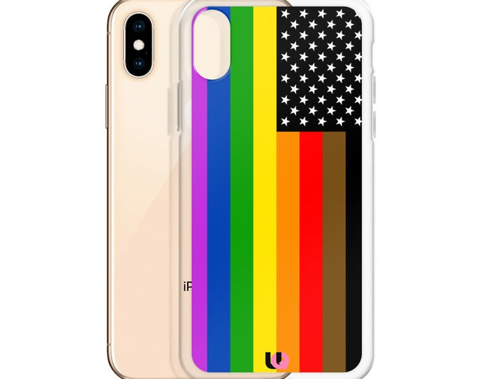 Rainbow US Flag iPhone Case
