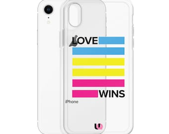 Pansexual Love Wins iPhone Case