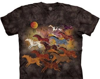 Horses and Sun T-Shirt - MyMountain