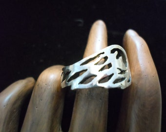 larger angel wing ring