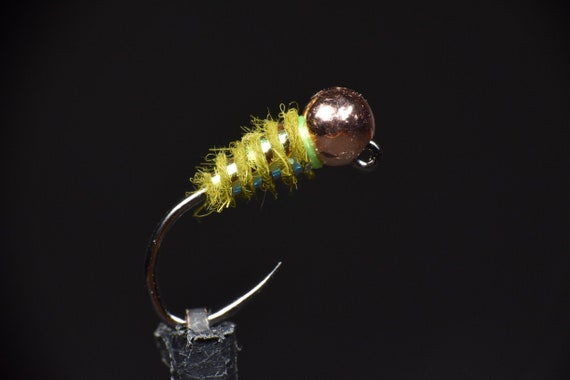 3 Tungsten Beaded Yellow Flash Pheasant Tails Jig Hooked Nymphs
