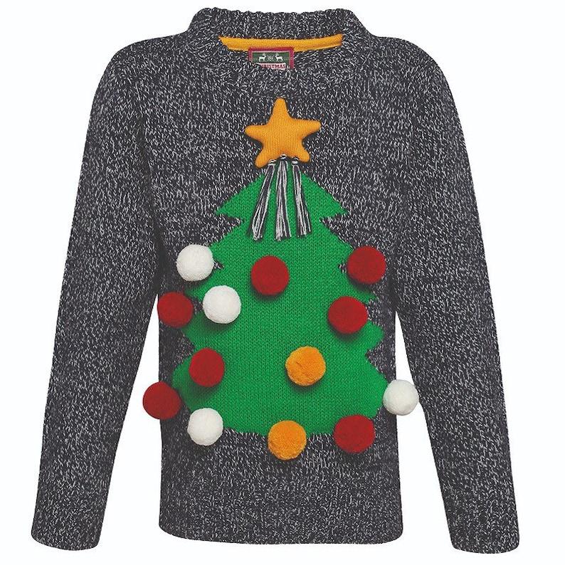 37d7fea9c31 Kids 3D Christmas Jumper | Kids Merry Christmas Sweatshirt | Kids Christmas  Tree Sweater