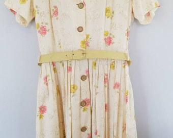 1950s Summer Floral Day Dress