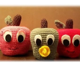 Crocheted Apple Family Pattern