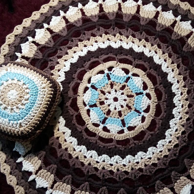 Crochet Mandala Rug Crochet Rug Handmade Large Crochet Rug Etsy