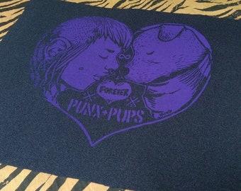 Punx ' n pups patch purple punk crust