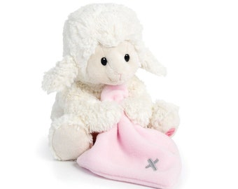 Baby Teddy Bear - Singing Jesus Loves Me (Pink Lamb)
