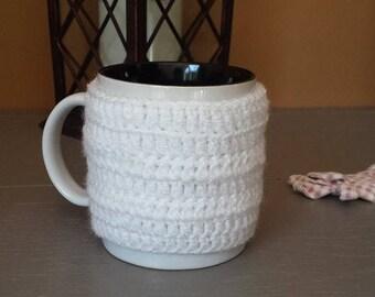 Mug warmer wool crocheted 8cm x 7.5 cm