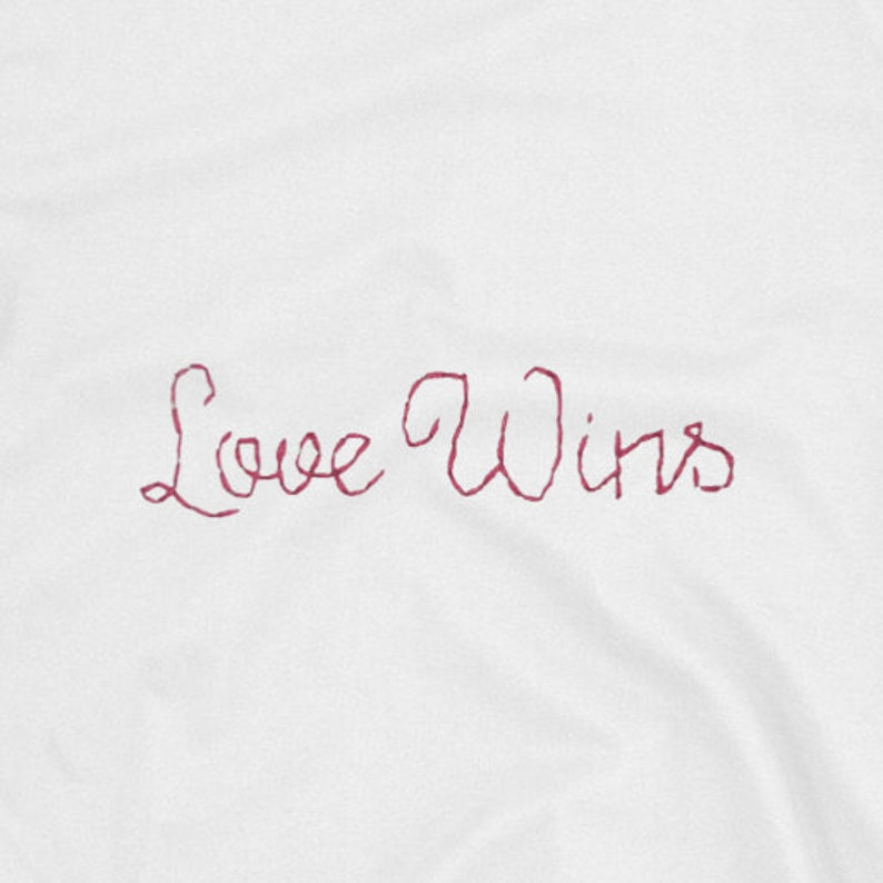 Gay Pride Love Is Love Pride Tops Crew Neck Love Wins White Sweater Ladies Tops Embroidered