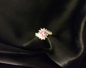 Beautiful Pink and White Sapphire Ring