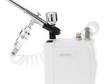 Air brush compressor kit dual action spray gun professional painting equipment