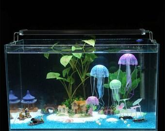 Aquarium decoration artificial jellyfish fish tank decor