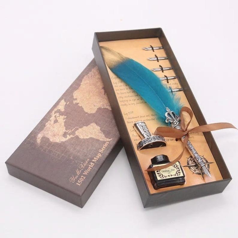 Caligraphy set feather dip pen quill pen set