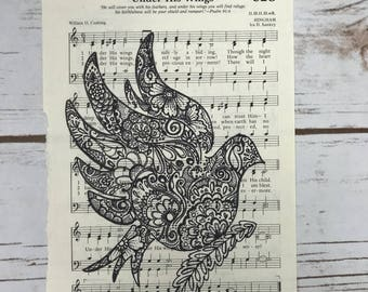"""Hymn """"Under His Wings"""" dove"""