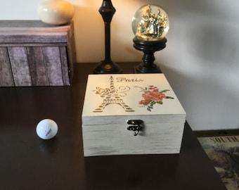Decorative vintage storage box