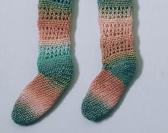 Watermelon Sherbet Socks