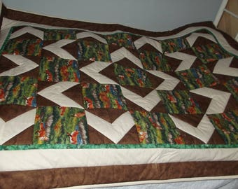 Foxes Quilt twin size