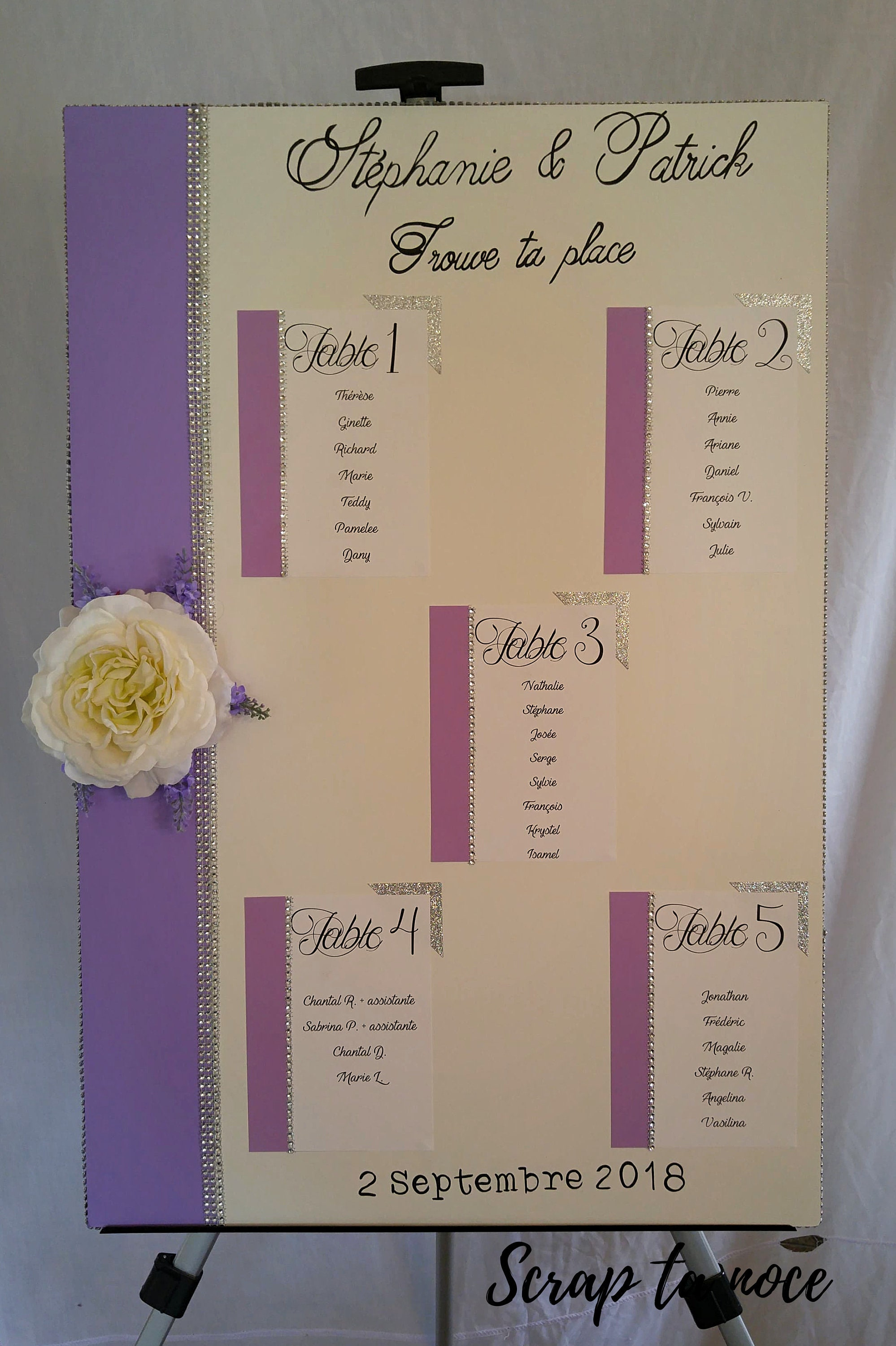 Plan for wedding table sign to attract places at your wedding