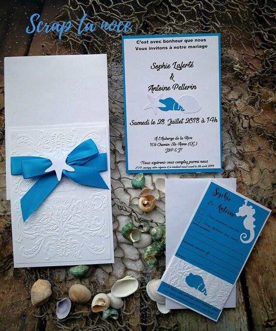 Faire Part Mer Invitation Ocean Mariage Dans Le Sud Faire Part Theme Mer Invitation Pour Mariage Dans Le Sud Mariage Turquoise Et Blanc
