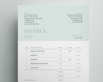 receipt template etsy