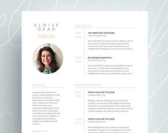 Cv Template Resume Template With Photo Professional Resume
