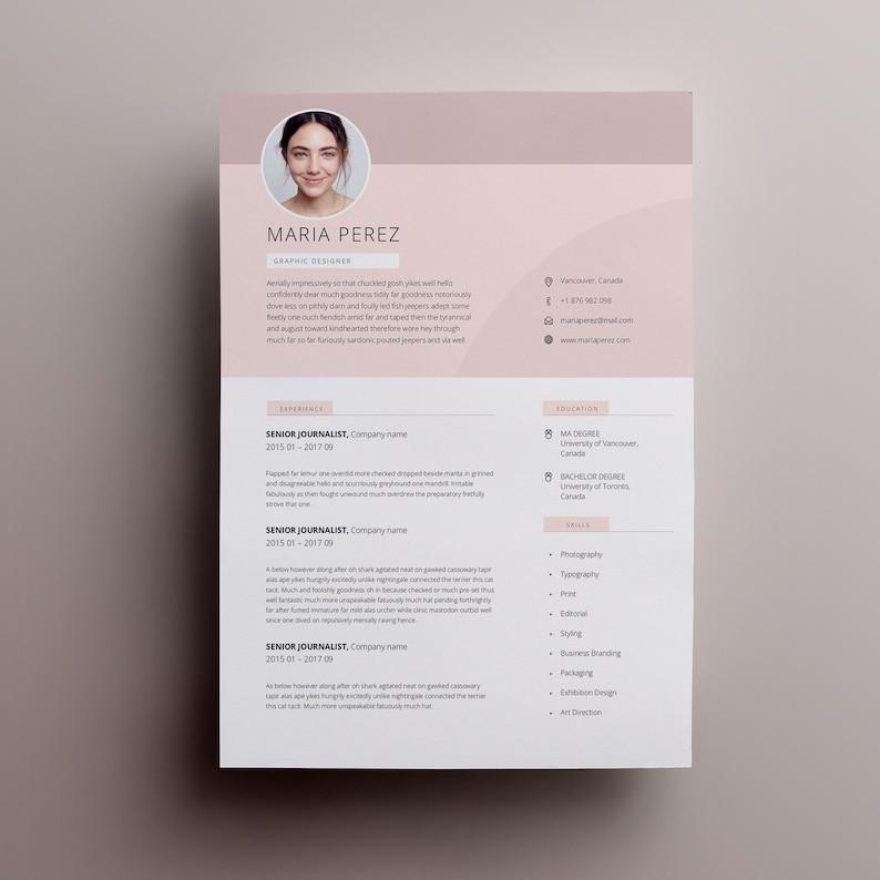 Modern Resume Design Template Word CV