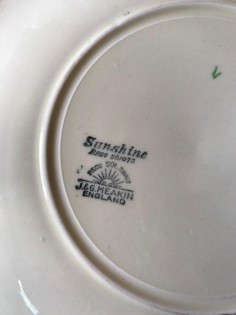 Rare 1930s art deco-J /&G Meakin Sunshine Ambrosia pattern square Cake plate