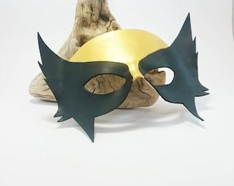 Leather kids Hawkgirl mask / Superhero villian mask