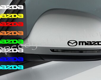 5x Mazda Sticker decals for door handle and mirrors self-adhesive