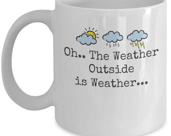 Weather coffee mug - Oh...the weather novelty coffee mug, perfect for warming up with a hot coffee or cocoa !