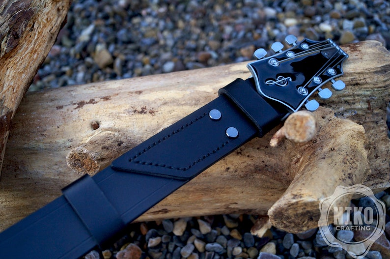FREE UK Delivery Guitar headstock Genuine leather belt with buckle men/'s belt Unique handmade Belt made in UK