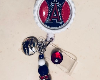 MLB custom made Giants Angels Twins Cubs Padres Red Sox Phillies Astros Cardinals A's Yankees Dodgers Marlins Orioles badge reel with charm
