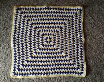 Beautiful handmade granny square crochet baby blanket