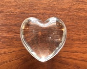 Baccarat Crystal Heart Paperweight. FREE SHIPPING