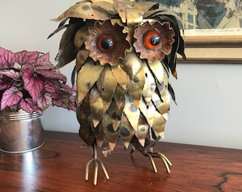 Adorable Mid Century Brass Owl!! FREE SHIPPING!!