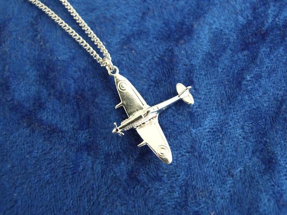 Sterling Silver Spitfire Plane Charm