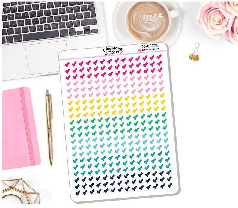 picture relating to Emily Ley Planners identify Contemporary! Colourful Mini Verify Mark - Planner Stickers - Emily Ley - Simplified (DD-00376)