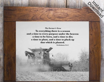 To Everything there is a Season... Ecclesiastes 3 1-2 Printable, Landscape and Portrait, Digital Download Active